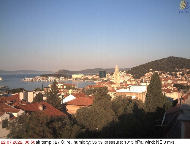 Split webcam - Split Weather webcam, Dalmatia, Split-Dalmatia