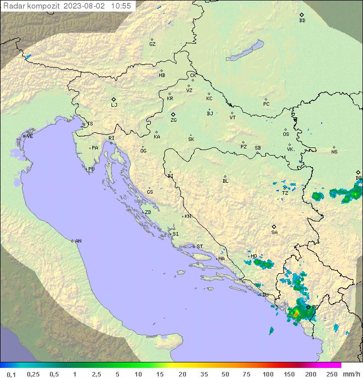 Radar Croazia OFF-LINE