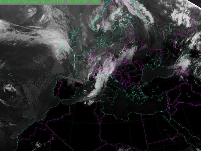 aktuelles Satellitenbild vom kroatischen Wetterdienst DHMZ